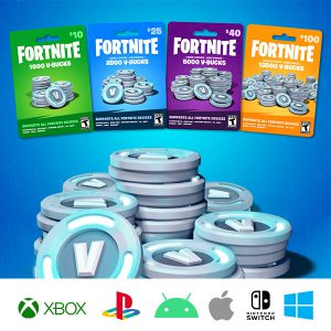 Fortnite V-Bucks Kartice (PC, Mac, Mobile, Switch)
