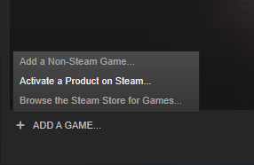 steam aktiviranje igara