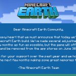 Microsoft gasi Minecraft Earth juna 2021.