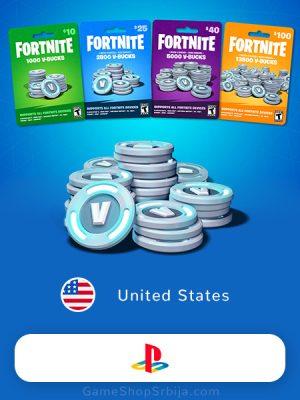 Fortnite V-Bucks (PlayStation USA)