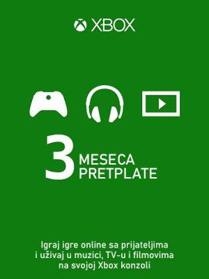 Xbox Live Gold Membership (EU) – 3 meseca